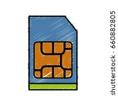 sim card icon | Shutterstock .eps vector #660882805