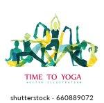 yoga fitness concept. vector... | Shutterstock .eps vector #660889072