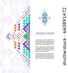 aztec style colorful ornate... | Shutterstock .eps vector #660891472