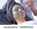 beautiful woman having mask  ... | Shutterstock . vector #660895462
