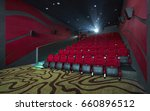 movie theater interior  with... | Shutterstock . vector #660896512