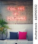 you are my sunshine neon lights ... | Shutterstock . vector #660900532