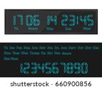 digital clock | Shutterstock .eps vector #660900856