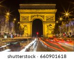 arch of triumph and champs... | Shutterstock . vector #660901618