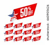 usa independence day discount... | Shutterstock .eps vector #660905626