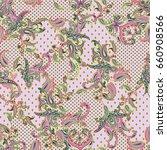 luxury paisley multicolor... | Shutterstock . vector #660908566
