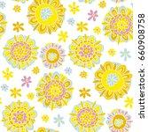 concept decorative marigold...   Shutterstock .eps vector #660908758