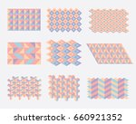 modern colorful geometric... | Shutterstock .eps vector #660921352
