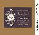 vintage delicate invitation... | Shutterstock .eps vector #660923236