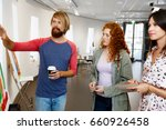 young people standing in a... | Shutterstock . vector #660926458