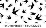 swallow bird vector seamless... | Shutterstock .eps vector #660932296