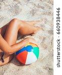 sexy female body in bikini with ...   Shutterstock . vector #660938446
