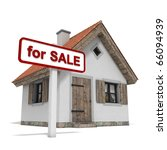 "house with ""for sale"" sign ... 