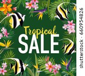 summer sale banner with... | Shutterstock .eps vector #660954826