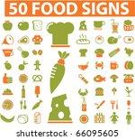 50 food signs. vector | Shutterstock .eps vector #66095605