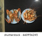 Crab And Shrimp In Dish