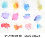 abstract watercolor background | Shutterstock . vector #660968626