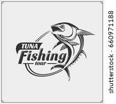 illustration of tuna. fishing... | Shutterstock .eps vector #660971188