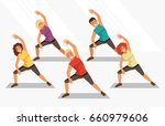 group of people is engaged in... | Shutterstock .eps vector #660979606