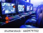 gamer computer online in... | Shutterstock . vector #660979702