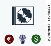 cd icon  stock vector...   Shutterstock .eps vector #660986815