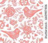 bird seamless background.... | Shutterstock .eps vector #660987406