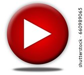 play button isolated  3d... | Shutterstock . vector #660989065