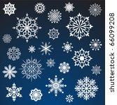 White Snowflakes Vector Set...