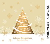 christmas card with holiday tree | Shutterstock .eps vector #66099658