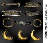 ramadan kareem ribbon and label ...   Shutterstock .eps vector #661002712