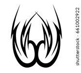 tattoo tribal vector design.... | Shutterstock .eps vector #661002922