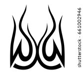 tribal tattoo art designs.... | Shutterstock .eps vector #661002946