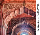 an ancient indian temple arches ... | Shutterstock . vector #661005718