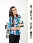 indian college girl  portrait...   Shutterstock . vector #661009882