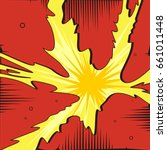 explosion in comic style.... | Shutterstock .eps vector #661011448