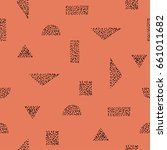 seamless pattern with geometric ... | Shutterstock .eps vector #661011682