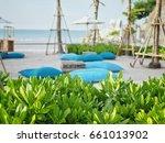 beach cabbage  sea lettuce ... | Shutterstock . vector #661013902