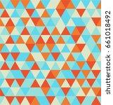 seamless triangle pattern.... | Shutterstock .eps vector #661018492