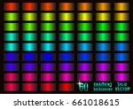 set of 60 colored gradients ... | Shutterstock .eps vector #661018615
