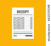 receipt icon. invoice sign.... | Shutterstock .eps vector #661019248