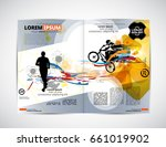 sport magazine layout  easy... | Shutterstock .eps vector #661019902