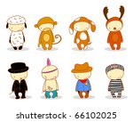 cute kids in costume. for cuter ... | Shutterstock .eps vector #66102025