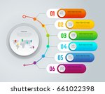 vector infographics designed to ... | Shutterstock .eps vector #661022398