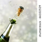 champagne explosion.celebrating ... | Shutterstock . vector #66102529