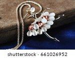 jewelry pendants witht gem... | Shutterstock . vector #661026952