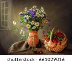 still life with a forest... | Shutterstock . vector #661029016