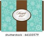 template frame design for xmas... | Shutterstock .eps vector #66103579