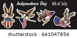 vector american eagle sticker... | Shutterstock .eps vector #661047856