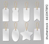 blank baggage labels  white... | Shutterstock . vector #661047892
