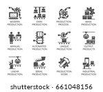 big set of icons in flat style... | Shutterstock .eps vector #661048156